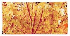 Fall Leaves #1 Beach Towel