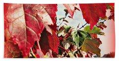Fall Leaves #10 Beach Sheet