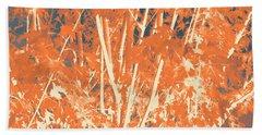 Fall Leaves #3 Beach Sheet