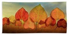 Fall Leaves #3 Beach Towel