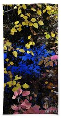 Fall Leaves Reflection Beach Towel