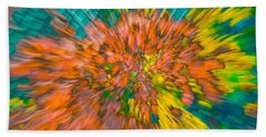 Fall Leaves Zoom Abstract Beach Towel