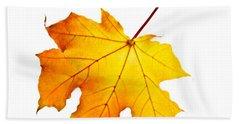 Fall Maple Leaf Beach Towel