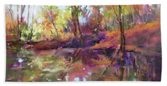 Fall Millpond Beach Towel
