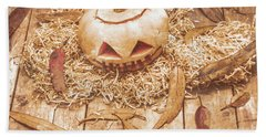 Fall Of Halloween Beach Towel