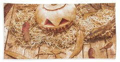 Fall Of Halloween Beach Sheet by Jorgo Photography - Wall Art Gallery