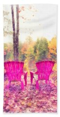 Fall On Anderson Pond Eastman Grantham New Hampshire Beach Towel