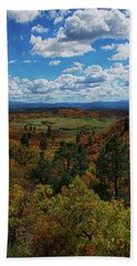 Fall On Four Mile Road Beach Towel