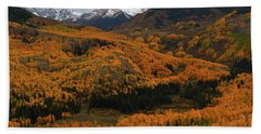 Fall On Full Display At Capitol Creek In Colorado Beach Towel