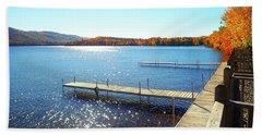 Fall On Lake Dunmore Beach Sheet
