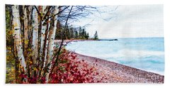 Fall On Lake Superior Beach Towel