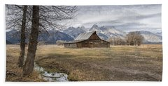 Beach Towel featuring the photograph Fall On Mormon Row - Grand Teton National Park by Sandra Bronstein