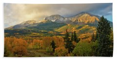 Fall On Mt Sopris  Beach Sheet