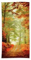 Fall Painting Beach Sheet