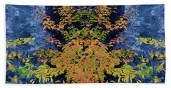 Fall Painting Twins Beach Towel by Kevin Blackburn