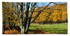 Fall Pasture Beach Towel