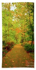 Fall Path Too Beach Towel