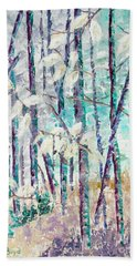Fall Paths Beach Towel