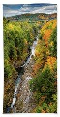 Fall Quechee Gorge, Vt Beach Towel