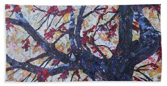 Fall Remmants  Beach Towel