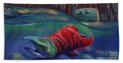 Fall Salmon Fishing Beach Sheet