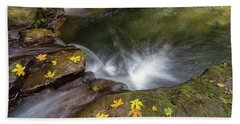 Beach Towel featuring the photograph Fall Season At Rock Creek by Jit Lim