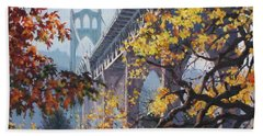Fall St Johns Beach Towel