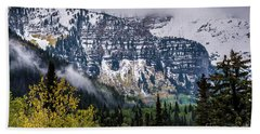 Beach Towel featuring the photograph Fall Storm In Wasatch Mountains - Utah by Gary Whitton