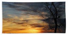 Fall Sunset Beach Sheet