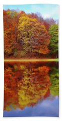 Fall Waters Beach Towel