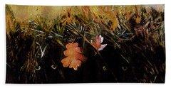 Fall Wind Across The Meadow Beach Towel by Seth Weaver