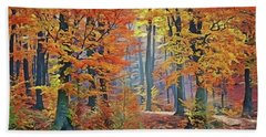 Fall Woods Beach Towel