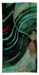 Beach Towel featuring the digital art Fallen Angle by Sheila Mcdonald