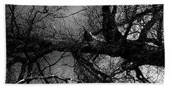 Fallen Dark Wood Forest Beach Sheet