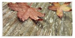 Beach Sheet featuring the photograph Fallen Leaves by Peggy Hughes