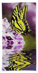 Fallen Lilacs Beach Towel by Diane Schuster