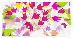 Beach Towel featuring the digital art Falling Leaves by Barbara Moignard