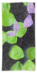 Beach Towel featuring the mixed media Falling Leaves by Writermore Arts