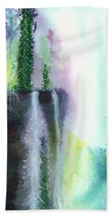 Falling Waters 1 Beach Towel