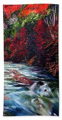 Falling Waters Beach Towel