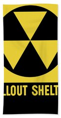 Fallout Shelter Sign Beach Towel
