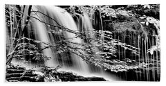 Falls And Trees Beach Towel by Paul W Faust - Impressions of Light