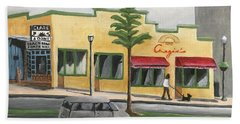 Beach Towel featuring the painting Falls Church by Victoria Lakes