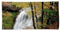 Falls In Autumn Beach Towel