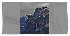 Beach Towel featuring the photograph Falls In Yosemite A by Phyllis Spoor