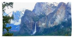Beach Towel featuring the photograph Falls In Yosemite C by Phyllis Spoor