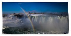 Falls Misty Rainbow  Beach Towel