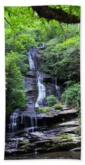 Falls Near Bryson City Beach Towel
