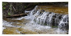 Falls Of The Au Train Beach Towel