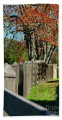 Beach Towel featuring the photograph Familiar Fall by Lori Mellen-Pagliaro